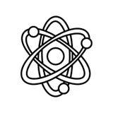 Atom molecule energy thin line Stock Images