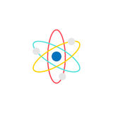 Atom and molecule flat icon, education and school Stock Image