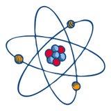 Atom molecule icon, hand drawn style. Atom molecule icon. Hand drawn illustration of atom molecule vector icon for web design stock illustration