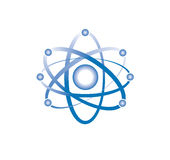 Atom or molecule icon sign vector Stock Images