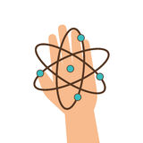 Atom molecule isolated icon. Illustration design Stock Images