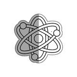 Atom molecule isolated. Icon  illustration graphic design Stock Photography