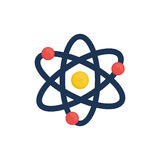 Atom molecule isolated. Icon  illustration graphic design Stock Photos