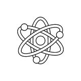 Atom molecule isolated. Icon  illustration graphic design Royalty Free Stock Photos