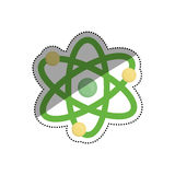 Atom molecule isolated Royalty Free Stock Image