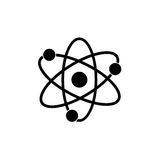 Atom molecule isolated Royalty Free Stock Photos