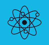 Atom molecule isolated icon. Vector illustration design Royalty Free Stock Photography