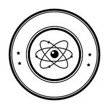 Atom molecule isolated icon. Vector illustration design Stock Photography