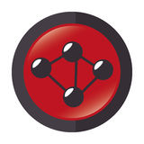 Atom molecule isolated icon Royalty Free Stock Photos