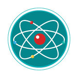Atom molecule isolated icon Royalty Free Stock Photography