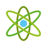 Atom molecule isolated icon Stock Photos