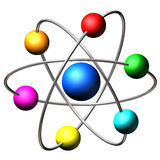 Atom molecule Stock Photo