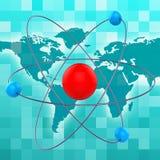 Atom Molecule Shows Chemical Atoms e fórmula ilustração royalty free