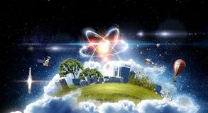 Astronomy concept backdrop. 3d rendering Royalty Free Stock Photo