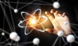 Atom molekuły badanie Fotografia Royalty Free