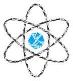 Atom Mosaic des triangles Illustration Libre de Droits
