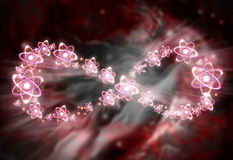 Atom nieskończoności symbol Obraz Stock