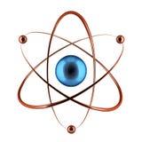 Atom of nuclear shape. Stock Photo