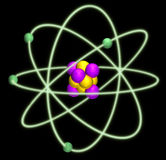 Atom nucleus Royalty Free Stock Photos