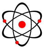 Atom nucleus. Illustration of atom nucleus on white background Stock Photography
