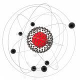 atom- nucleus Arkivbild