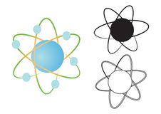 Atom nucleus - vector Royalty Free Stock Image