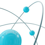 Atom orbit. Close view. Royalty Free Stock Image