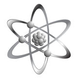Atom over white Stock Photo