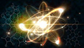 Atom Particle Images stock