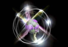 Atom Particle Photographie stock