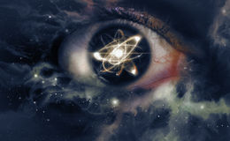 Atom Particle Eyes Royalty Free Stock Image