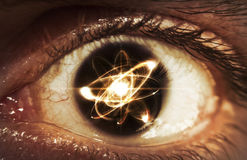 Atom Particle Eyes Stock Photography
