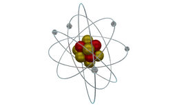 Atom Particle Illustration Stock Images