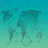Atom path around earth . Royalty Free Stock Photography