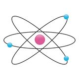 Atom  Physics. Atom physics on white background Stock Images