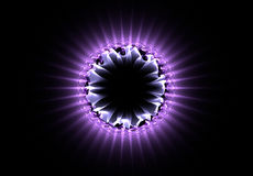 Atom of purple Stock Photos