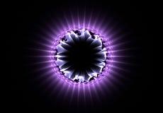 Atom of purple Stock Photos