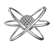 Atom - relistic model from steel Royalty Free Stock Photo