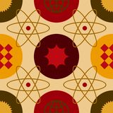 Atom Seamless Pattern chaud illustration de vecteur