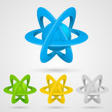 Atom set symbol on a white background Stock Image