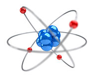 Atom. Shallow DOF atom - 3d render Royalty Free Stock Photo