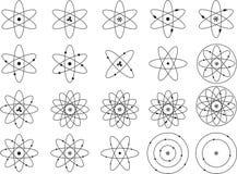 Atom shapes Stock Photos