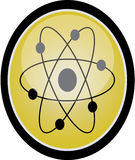 Atom sign Stock Image