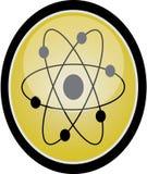 Atom sign. Isolated on white Stock Image