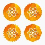 Atom sign icon. Atom part symbol. Royalty Free Stock Photography