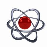 Atom sign over white background Royalty Free Stock Photography