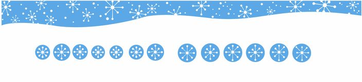 Atom Snowflakes with Banner Header Royalty Free Stock Images