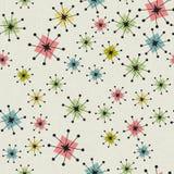 Atom- stjärnabakgrund för sömlös tappning Arkivbild