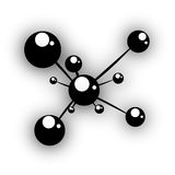 Atom structure Stock Photo