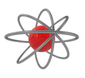 Atom Structure. Isolated on white - 3d illustration Stock Photo